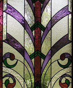ZNR art deco stained glass window